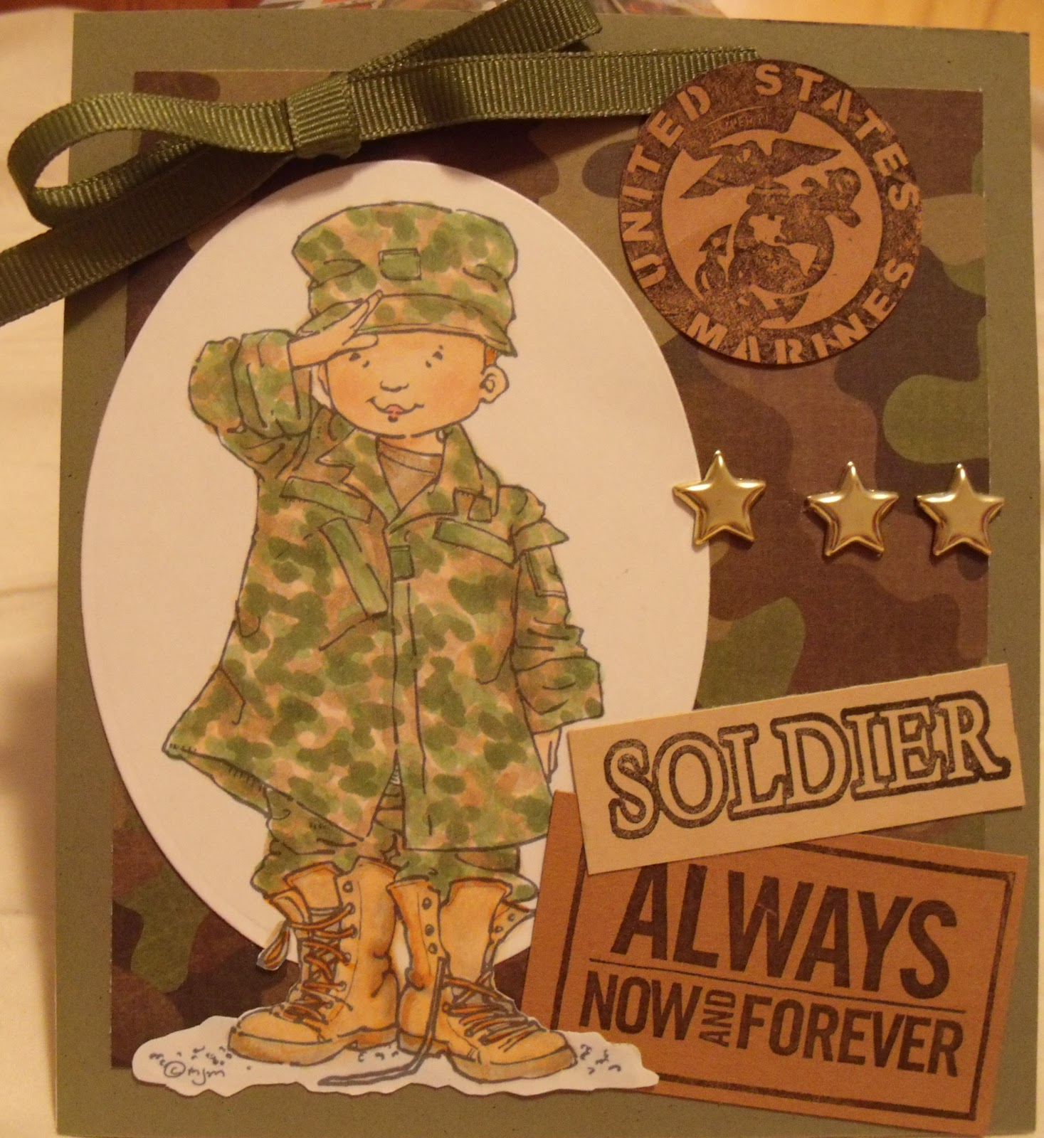 Karals creative space soldier always my grandson has a birthday coming up and he wants a marine card just like this so i think i can just change a few things around and have a birthday card bookmarktalkfo Image collections