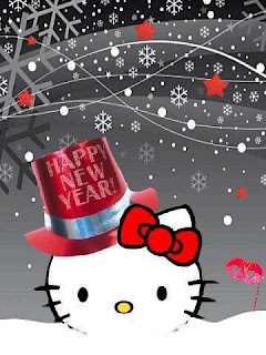 Hello Kitty Happy New Year greeting card ecard