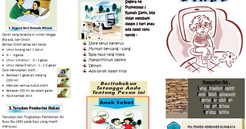 Kumpulan Materi Kebidanan: SAP dan Leaflet Diare Pada Anak