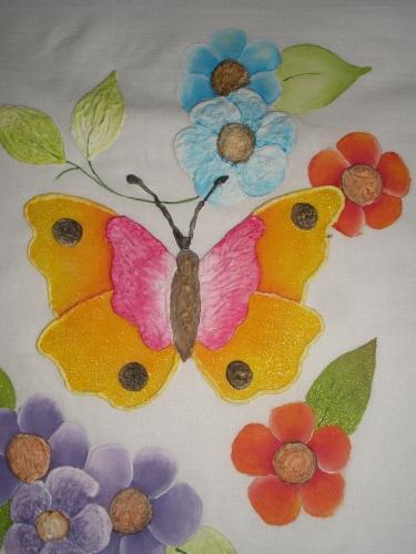 Manualidades en tela y otros pintura en tela - Pintura en tela dibujos ...