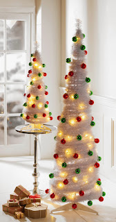 White Pop-Up Christmas Tree