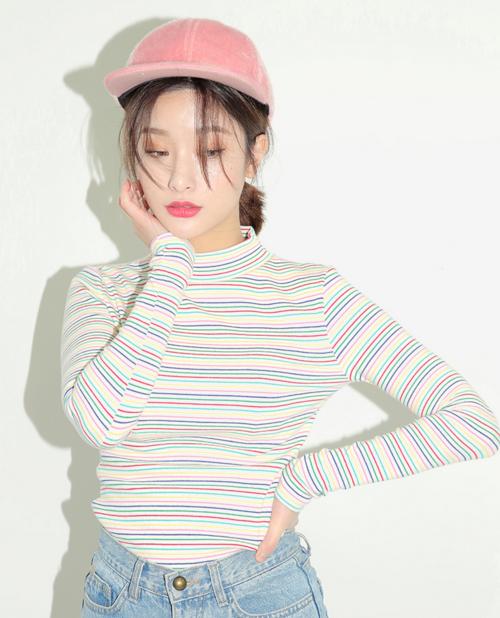 Multicolored Striped Top