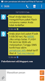 Bisakah Atasi Pesan Maaf Anda Tidak Bisa Mengaktifkan Paket Flash Ini Karena Nomor Anda Tidak Terdaftar dari TELKOMSEL