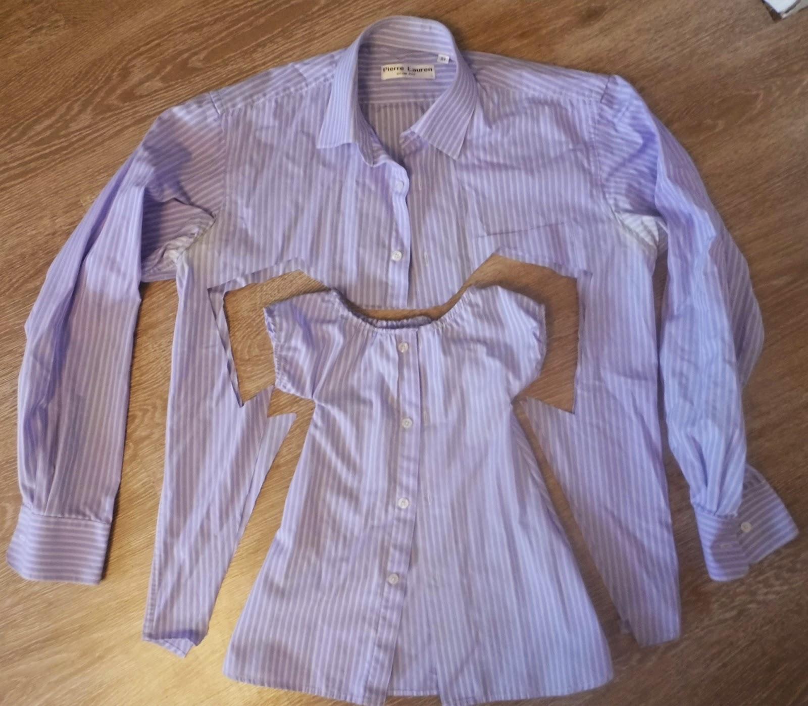 Платье из папиной рубашки фото