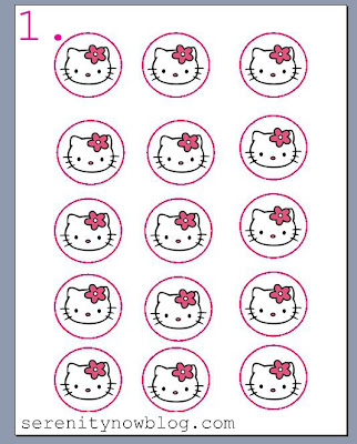 Serenity now diy cupcake toppers craft tutorial for Hello kitty cupcake topper template