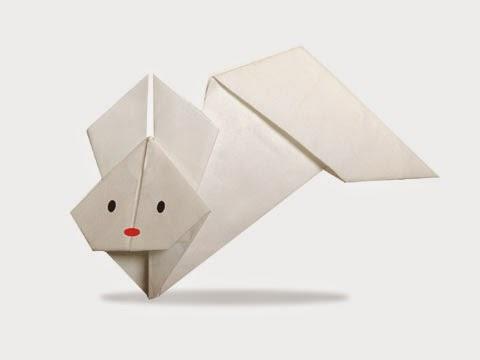 Cách gấp, xếp con thỏ bay bằng giấy origami - Video hướng dẫn xếp hình Động vật - How to fold a Fly Rabbit