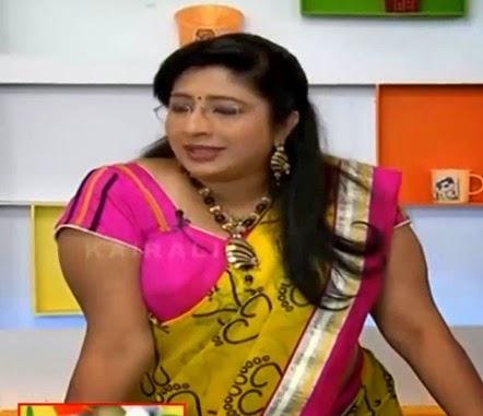 ... Nair Hot Yellow Saree Photos Mallu Anchor - ACTRESS HOT SEXY