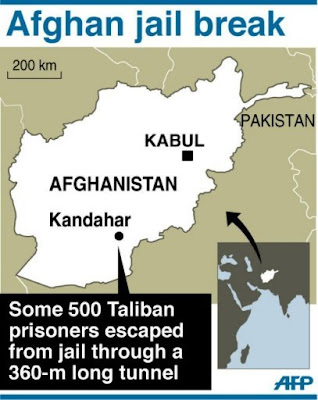 nearly 500 taliban flee in 'daring' afghan jailbreak
