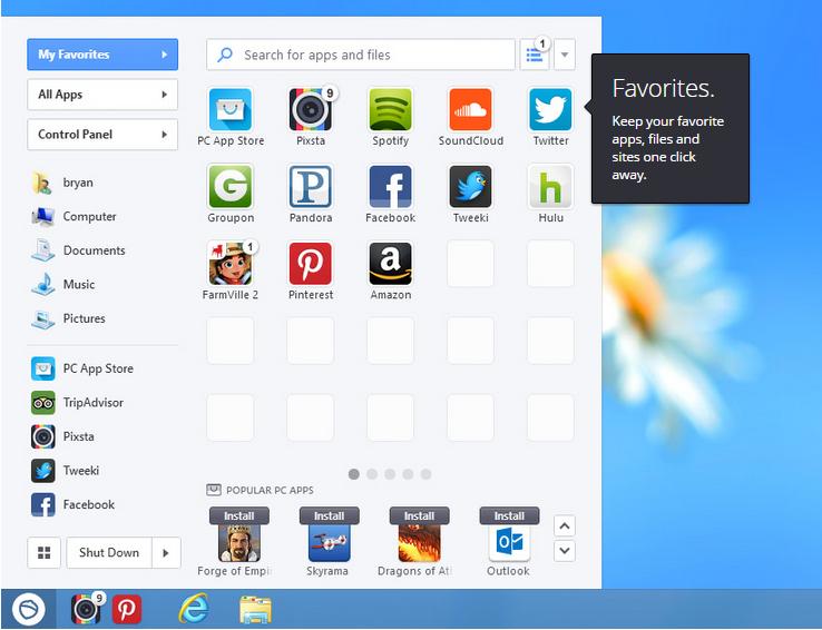 Menambahkan Tombol Start di Windows 8