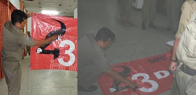 Logo Mirip Palu Arit, Puluhan Spanduk dan Baliho HUT 43 PDIP Dicopot