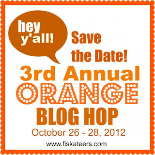Save the Date! 3rd Annual Orange Blog Hop October 26th-28th, 2012