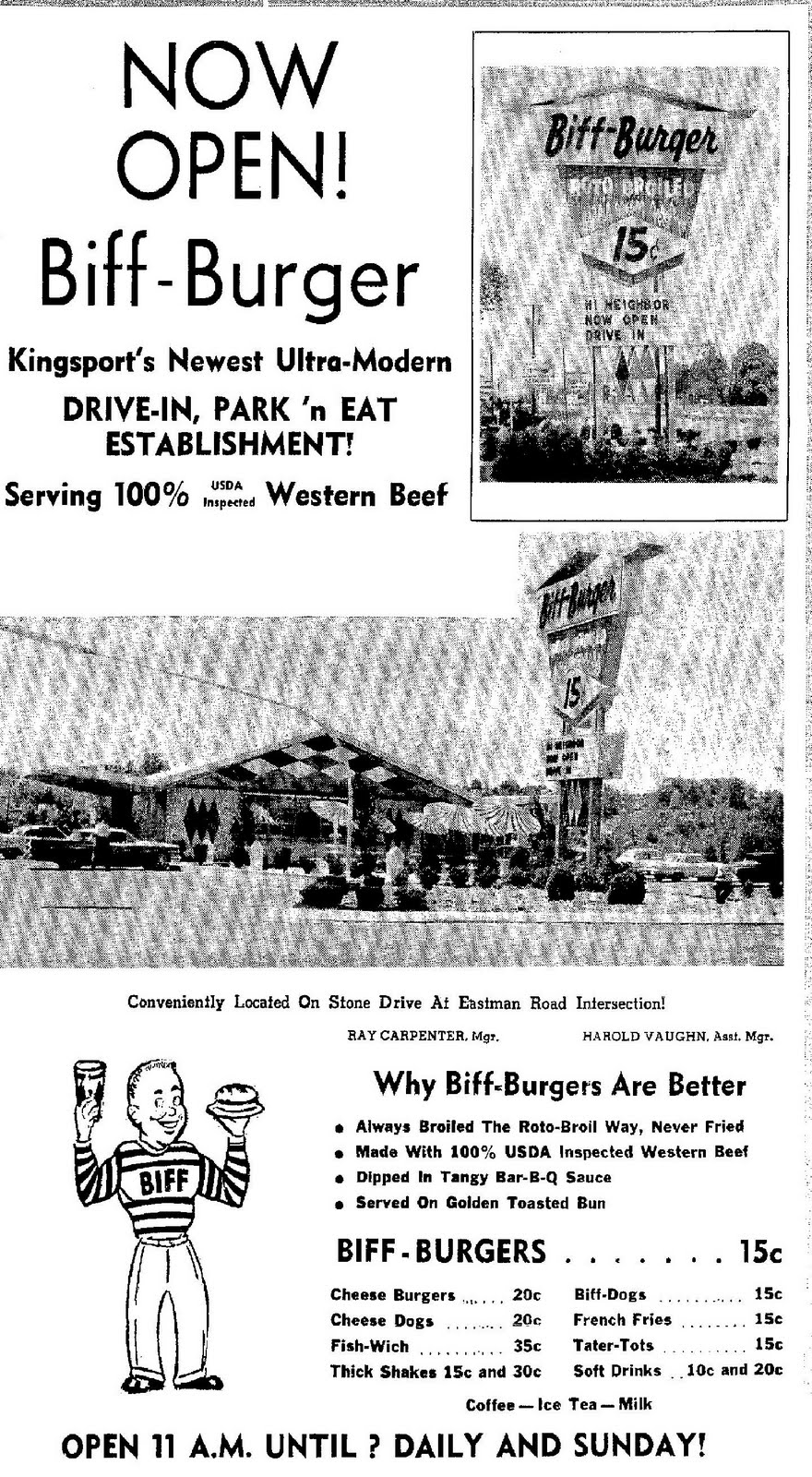 Biff Burger In Kingsport 1964 1974