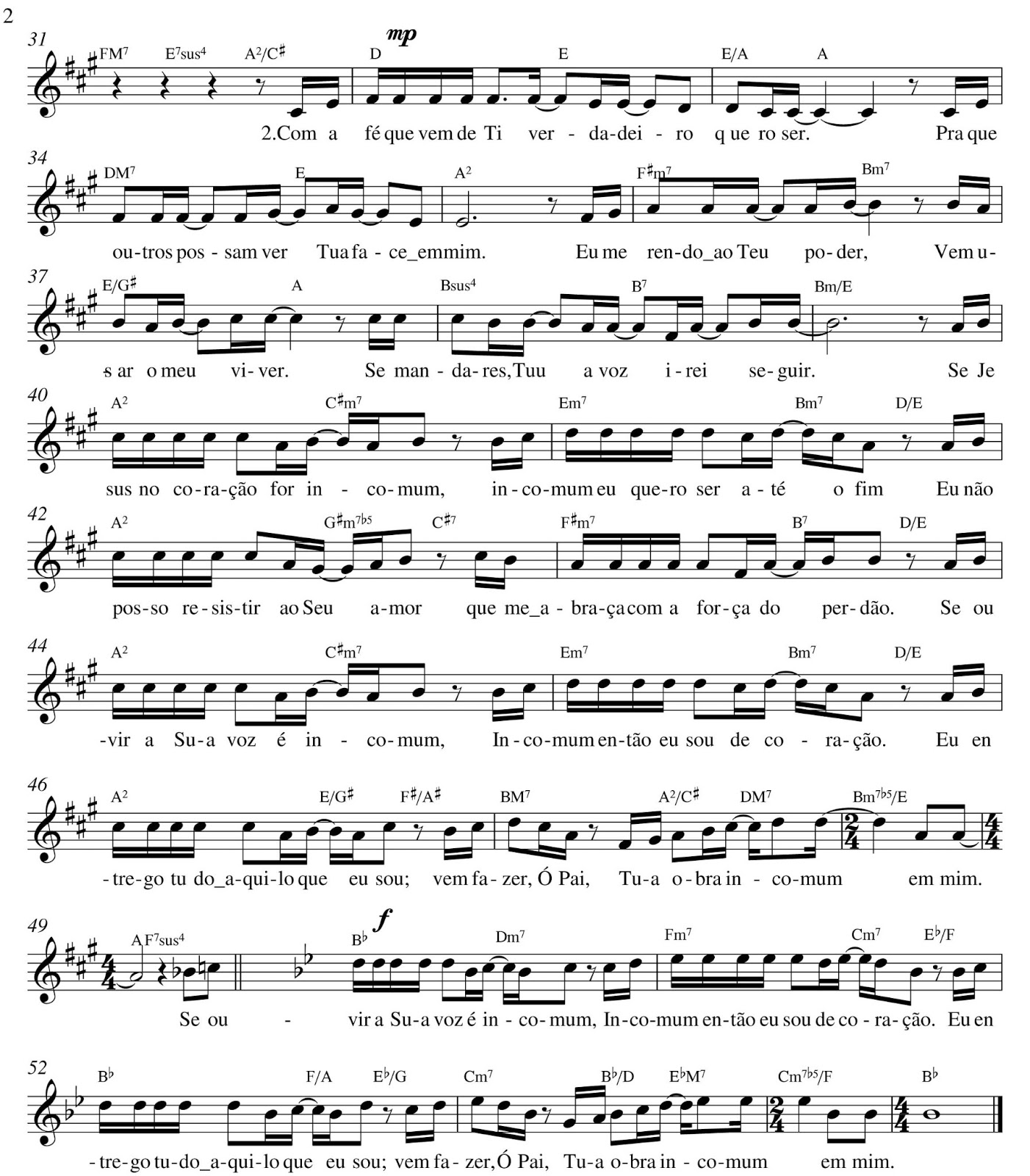 how to play ha um deus on piano