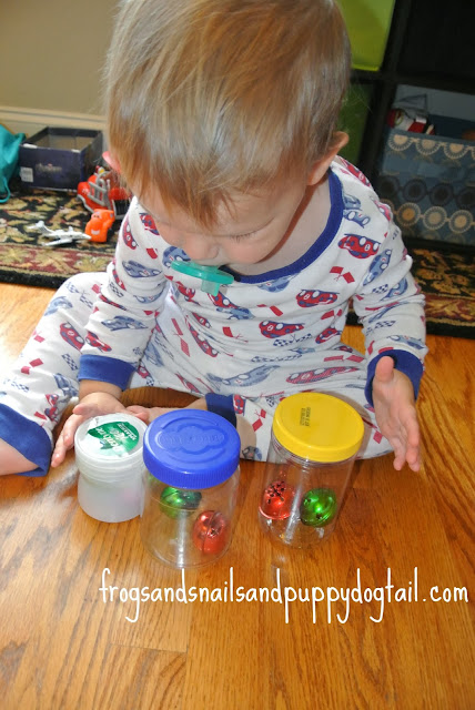 Jingle Bells and Jars- toddler created activity