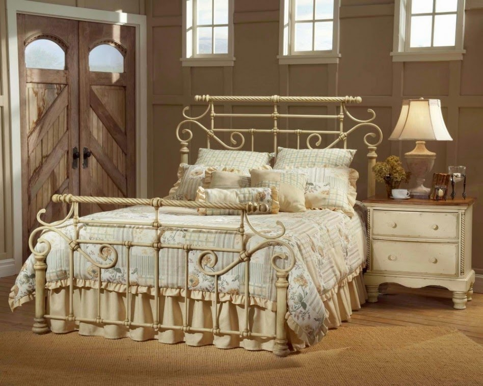 Bedroom with Wrought Iron Bed