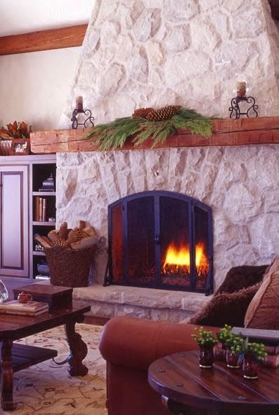 Decoracion de chimeneas para navidad parte 3 for Decoracion de chimeneas
