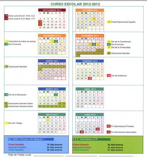 La Delegaci  N Provincial De Educaci  N Ha Publicado El Calendario