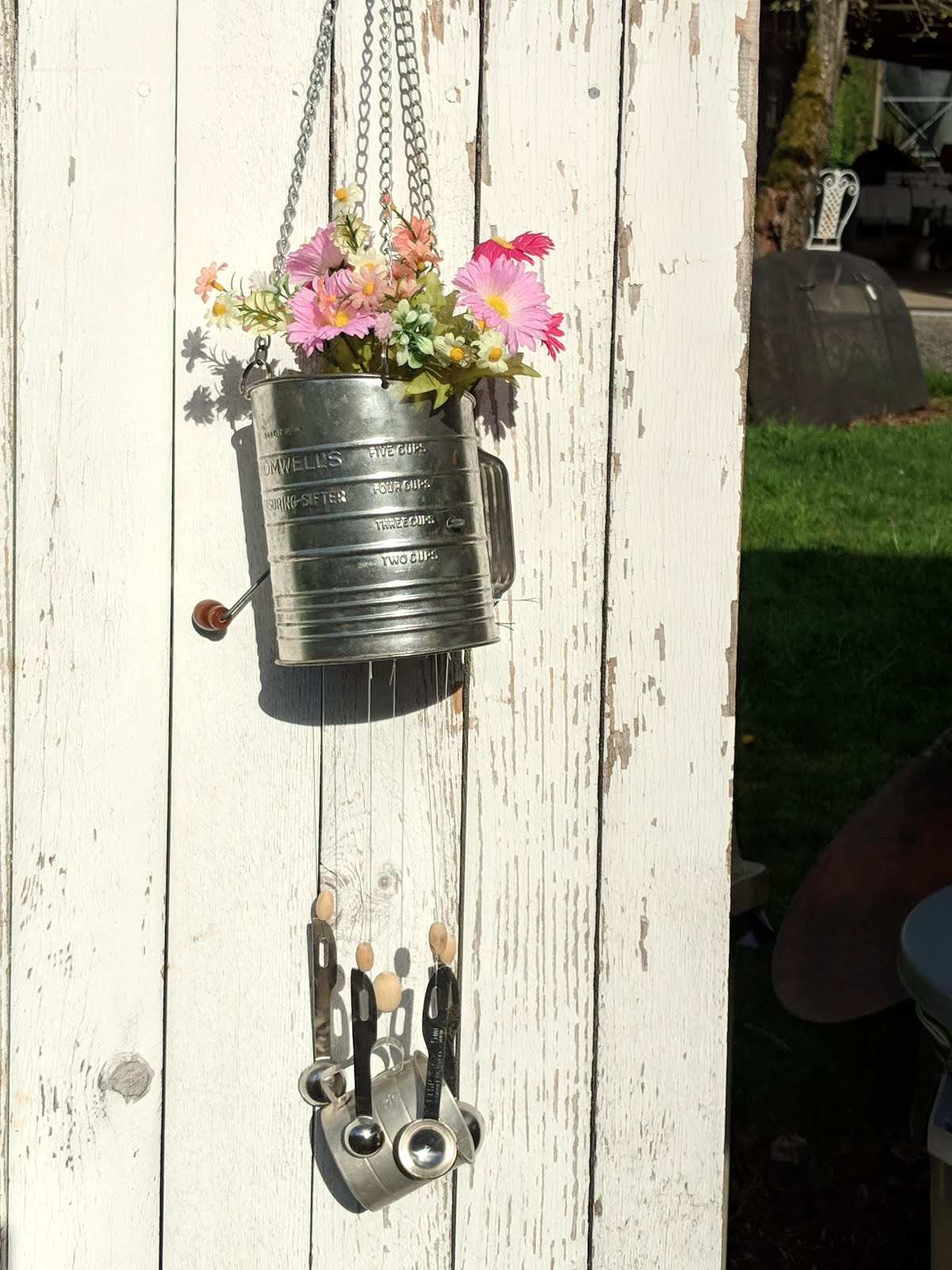 FLOUR SIFTER WIND CHIMES PLANTER WORKSHOP