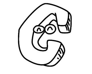 Alfabeto para colorir - Letra C colorir