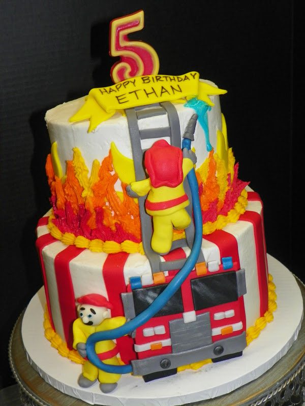 Plumeria Cake Studio Firefighter Birthday Cake
