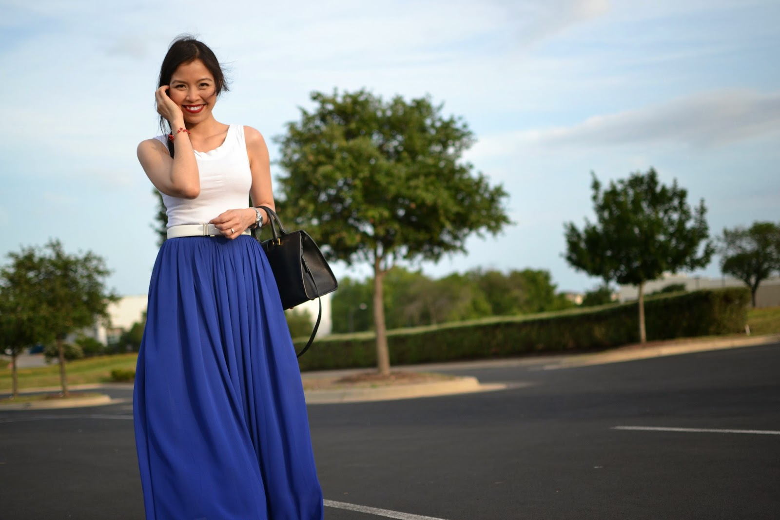 a9e77f4c57 Style and Cappuccino   RED WHITE   BLUE  Maxi skirt