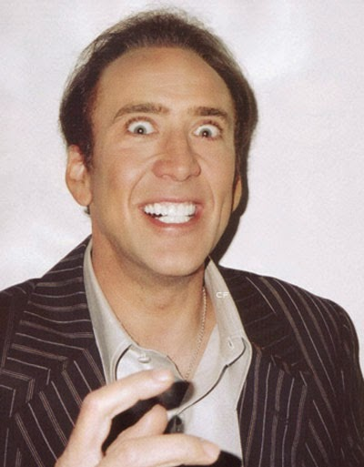 actor Nicolas Cage crazy face