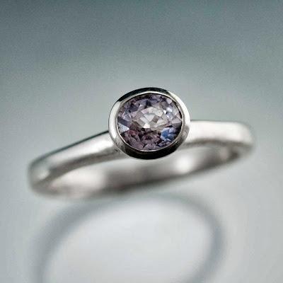 lavender spinel ring