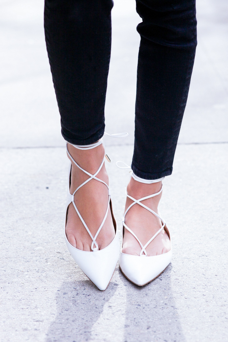 Fashion Attacks inspiration lace up ballerina