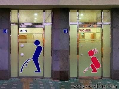 Imagens de placas divertidas de banheiros