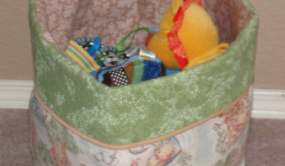 Handmade Baskets In Pa : Cottage country charms fabric toy bin and other handmade