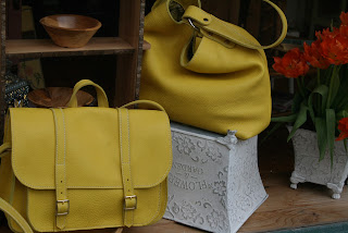 yellow satchel yellow tote
