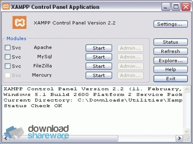 xampp windows 7 64 bit download