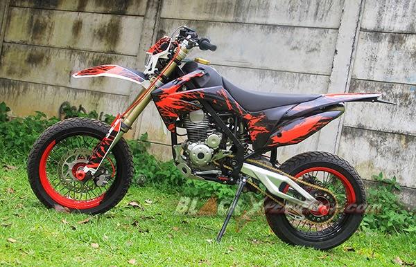 modifikasi motor kawasaki klx150