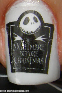 Halloween Nightmare before christmas nail art water decal