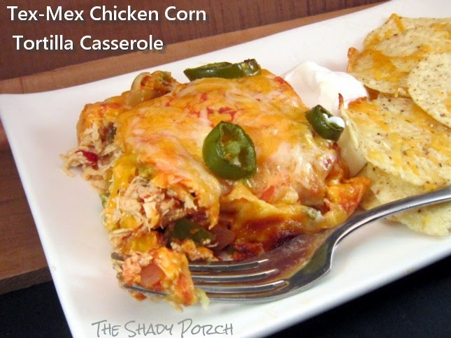 serving of Tex-Mex Chicken Corn Tortilla Casserole