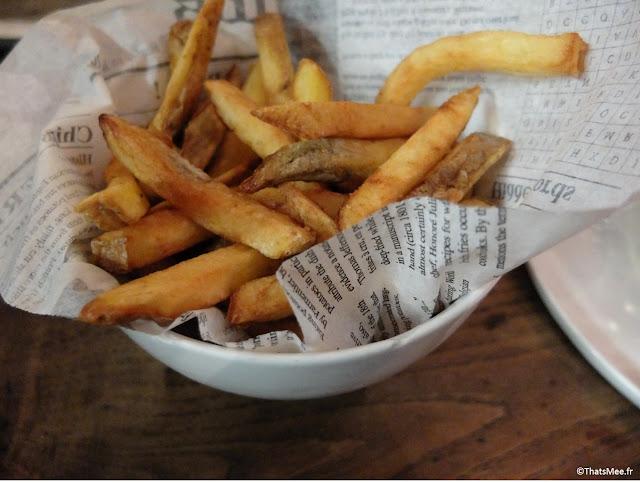 frites maison pas bonnes bar à burgers Paris 10ème goncourt
