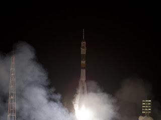 "Космический корабль ""Союз ТМА-03М "" успешно запущен с Байконура"