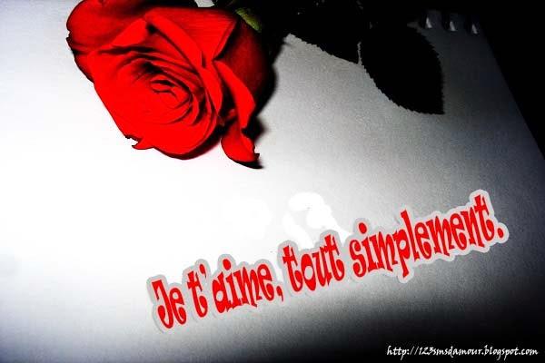 Message d'amour je t'aime
