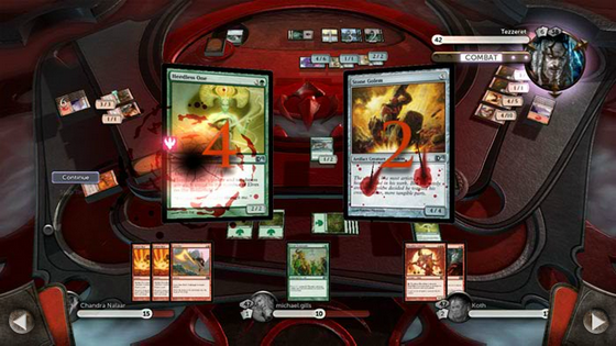 Magic : Duels of the Planeswalkers 2012 - Interface