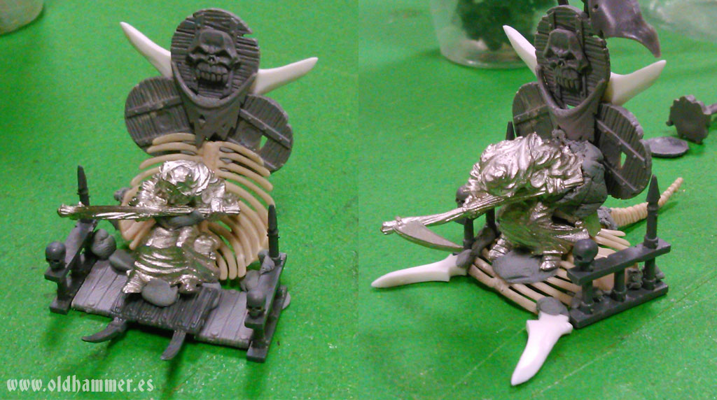 Oldhammer Nurgle palanquin conversion