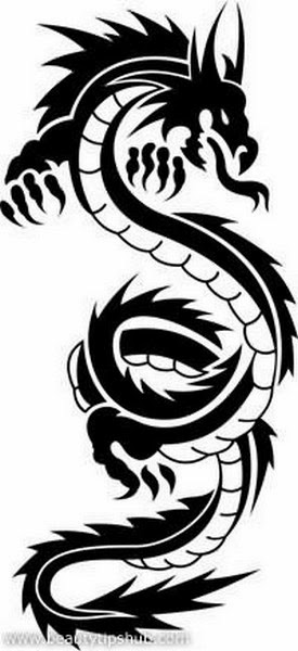 The Best Tribal Dragon Tattoos (Gallery 2)