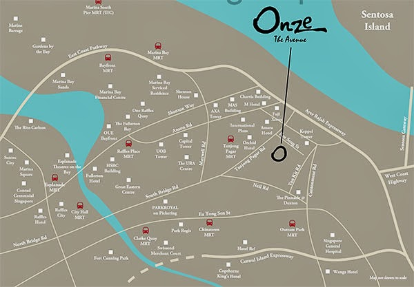 Onze @ Tanjong Pagar Location Map