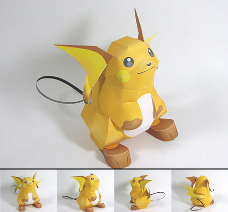 Pokemon Raichu Papercraft