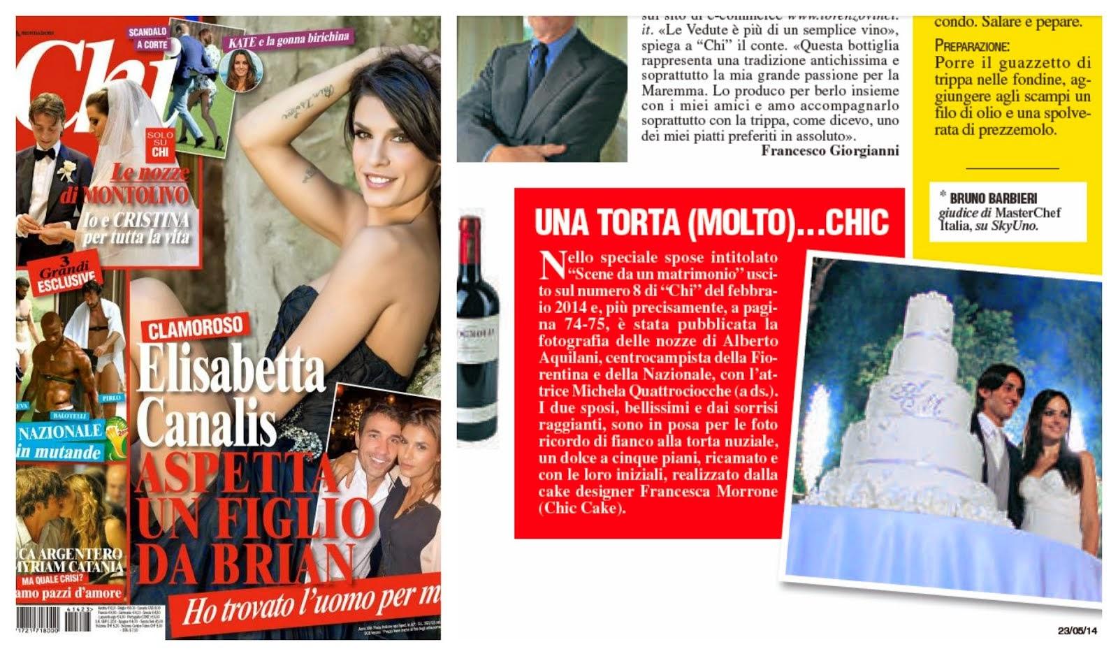 Su CHI parlano di una wedding cake firmata da.... Francesca Morrone-Chic Cake