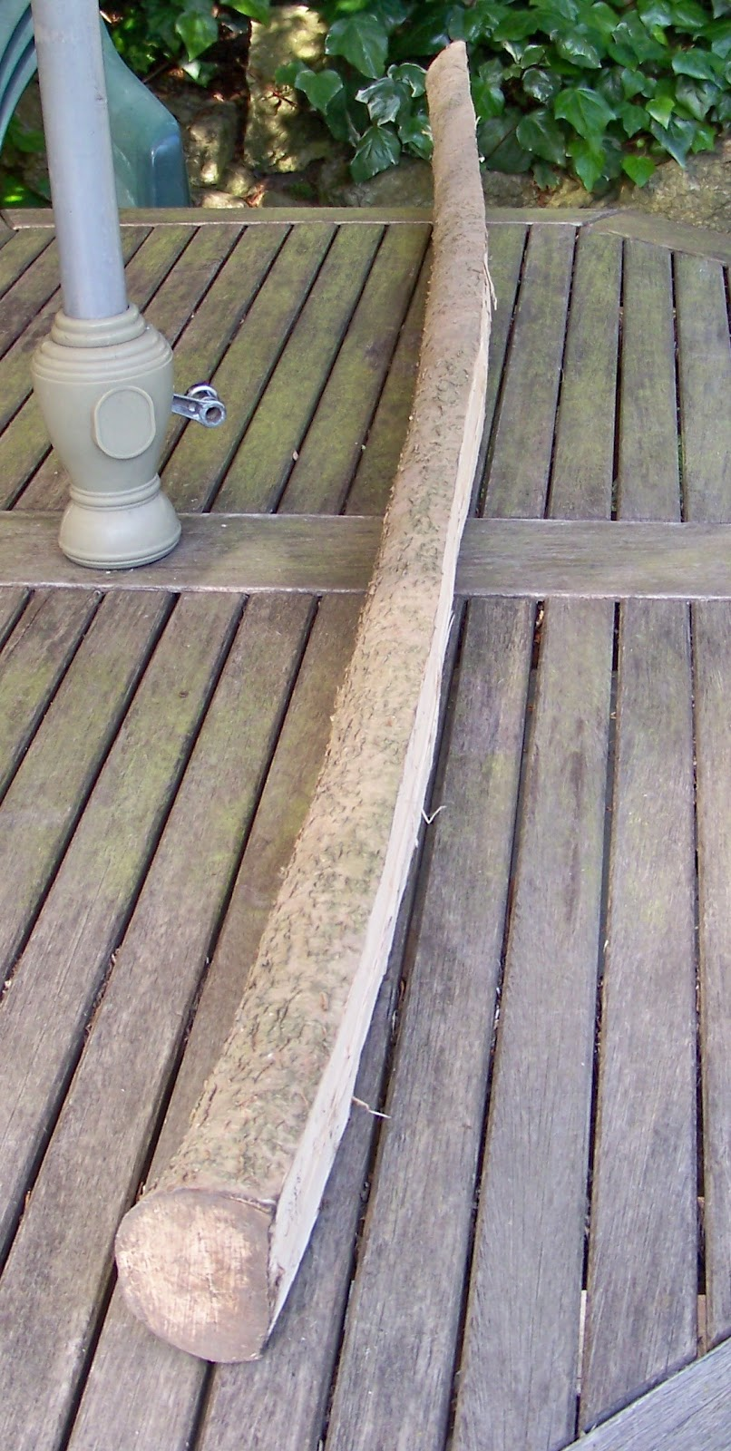 how to make a eucalyptus bow stave