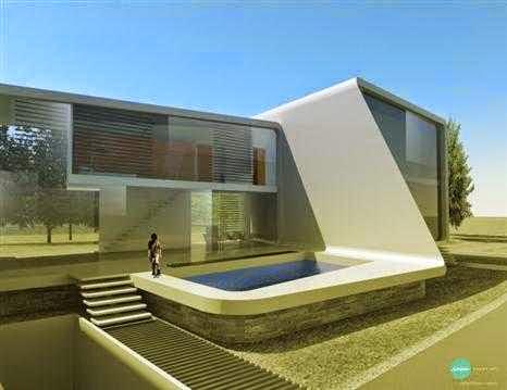 Arsitektur rumah futuristik