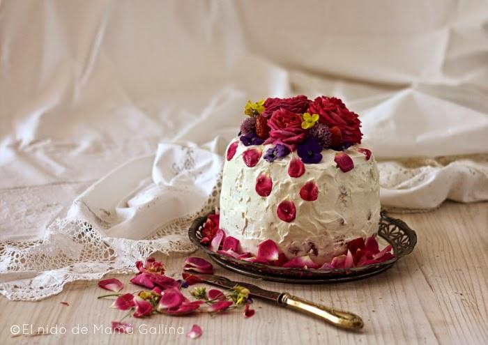 tarta de flores naturales