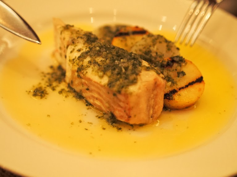 brill on the bone and potatoes