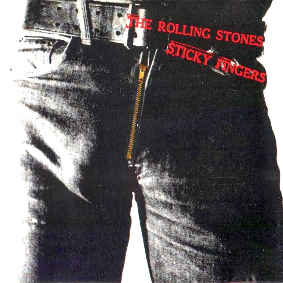 Portada del álbum Sticky Fingers de los Rolling Stones