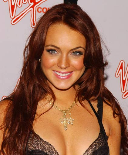 lindsay lohan red hair-6